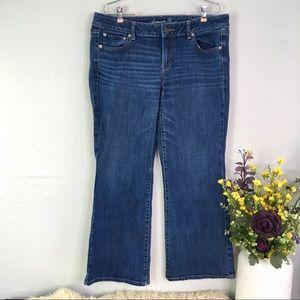 AEO favorite boyfriend jeans short mid rise